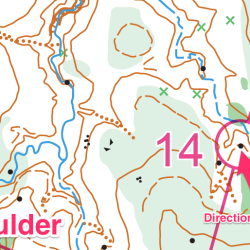The boulder, on the map.